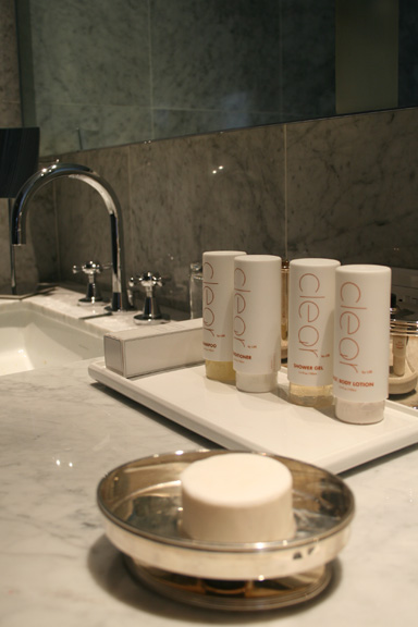 Toiletries at London Hotel, NYC