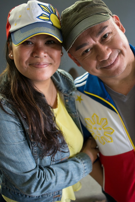 Liz Casasola and Brian Jose — 2 of the 3 Broadway Barkada co-founders at rehearsal, Seattle, WA